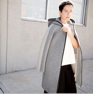 J. Crew wool Colorblock Grey stadium cloth jacket